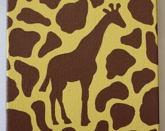 Giraffe Acrylic Canvas