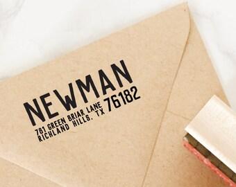 Return Address Stamp, Self-Inking Stamp, Personalized Address Stamp, Housewarming Gift, Wedding Gift - Custom Address Stamp Style No. 80