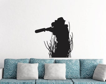Military Army Sniper Soldier Wall Sticker Vinyl Decal