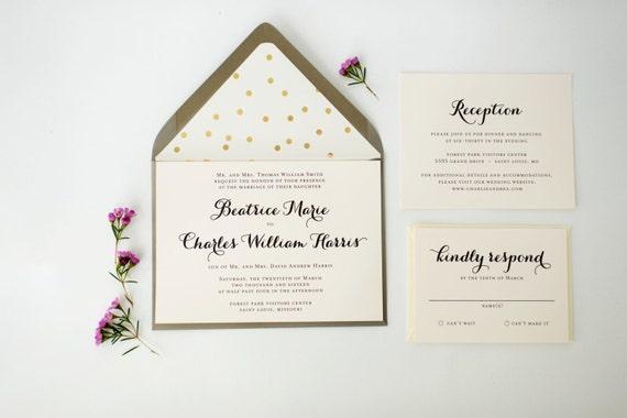 beatrice wedding invitation sample set  // lola louie paperie