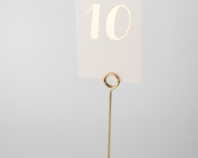 grace gold foil table numbers (single-sided)  //  lola louie paperie