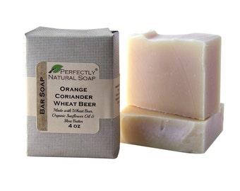 Orange Coriander Wheat Beer All Natural Artisan Handmade Soap, 4 oz