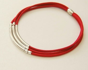 modern necklace,elegant necklace,red necklace,contemporary necklace,elegant choker,contemporary jewelry,simple choker.geometric necklace