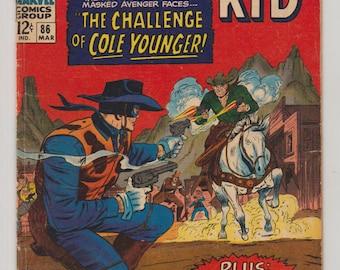 Two-Gun Kid, Vol 1, 86, Silver Age Comic Book. VG+. March 1967. Marvel Comics