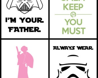 Pack de 4 designs Star Wars