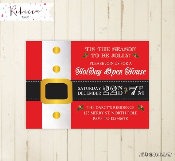items similar to christmas open house invitation holiday open house invitation christmas
