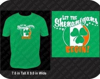 St. Patrick's Day shenanigans shirt shamrock shenanigans shirt St. Patricks day shamrock shirt let the shenanigans begin St. Patrick's day
