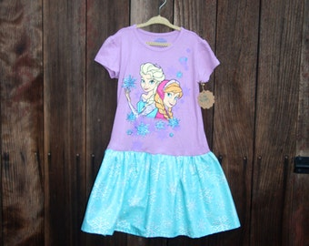 Frozen t-shirt dress in size 10/12