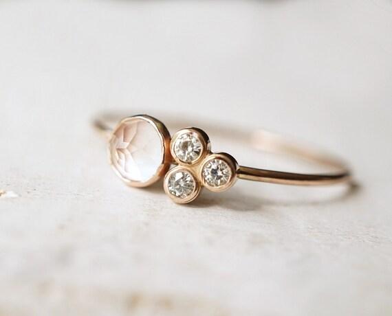 Rose Quartz Wedding Rings 023 - Rose Quartz Wedding Rings