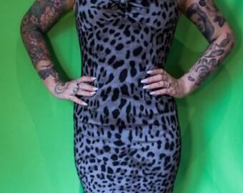 leopard pin up dress