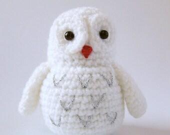 Crochet Owl Miniature - Handmade Decor - Crochet Miniature