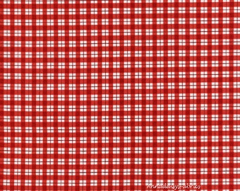 Red & White Gingham Check Fabric, Timeless Treasures Holiday Jolly C4525, Red and White Quilt Fabric, Picnic Check Cotton Fabric