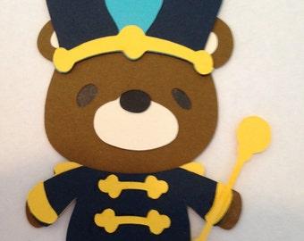 Teddy Bear Drum Major Die Cut