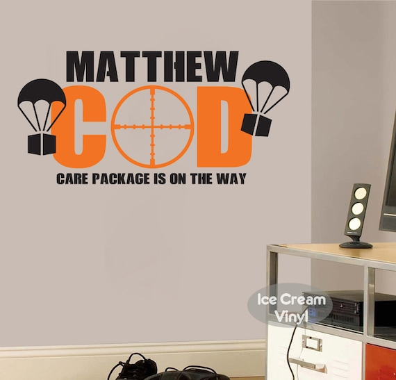 Gamer Wall Decal Bedroom Video Game Wall Decal with Name Care Package Gamer Gift for Teen Boy Girl Bedroom Vinyl