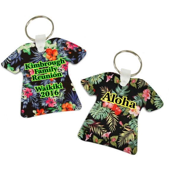 Items similar to hawaii keychain hawaiian shirt keychain for Hawaii souvenir t shirts