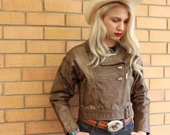 Leather Jacket For Her - Leather Biker Jacket - Leather Motorcycle Jackets For Women - Vintage Gypsy Jacket - Gifts For Her - Bomber Jackets