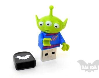 Lego Disney Toy Story Alien usb 8/16/32/64GB - Creature usb - Lego® original Minifigure - Alien Lego Disney Minifigure - Lego usb -Toy Story