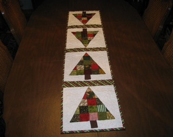 Quilted table runner for the Christmas holiday. Will look good on any table. Great gift idea.