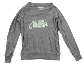 35mm Camera Slouchy Pullover Shirt