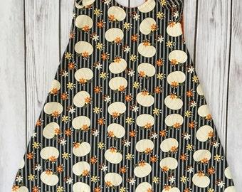 Pumpkin Dress , Halloween Dress , Orange Pumpkin Dress , Halloween Outfit , Halloween Baby Dress , Halloween Toddler Dress , Fall Dress