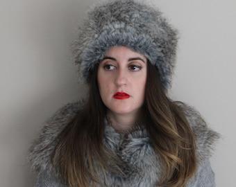 Russian hat,faux fur hat, fur winter hat, warm hat, women winter fur hat