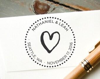 Save the Date Stamp, Wedding Stamp, Self Inking Stamp, Custom Rubber Stamp, Personalized Stamp, Bridal Shower Gift, DIY Wedding Favor Stamp