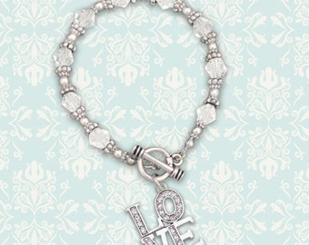 LOVE Beaded Toggle Bracelet - 49355