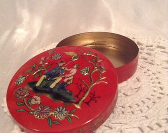 Baret Ware Miniature Tin Container from England
