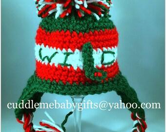 Baby Shower Baby Wild Hockey Crochet Baby Hat Photo Prop