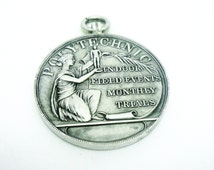 Silver Medal, Cased, Sterling, Standing Long Jump, Field Events  Monthly Trials, 1st Prize, Medallion, Sports, Hallmarked 1914, REF:294D