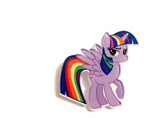 My Little Pony, Rainbow -  Pink, purple , Green, Colorful, Acrylic / Plastic Jewelry, Kawaii Brooch, Fun, Cool, Cute  Backpack Pin