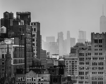NYC Skyline Mounted Print (Limited Edition)