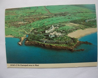 Aerial of the Kaanapali area in Maui postcard, Hawaii postcard, Hawaii souvenir, Maui souvenir