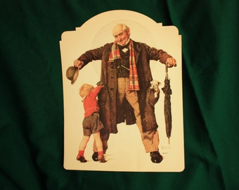 Norman Rockwell Find Candy in Grandpa's Pockets, Norman Rockwell poster, window display, store display, Norman Rockwell print