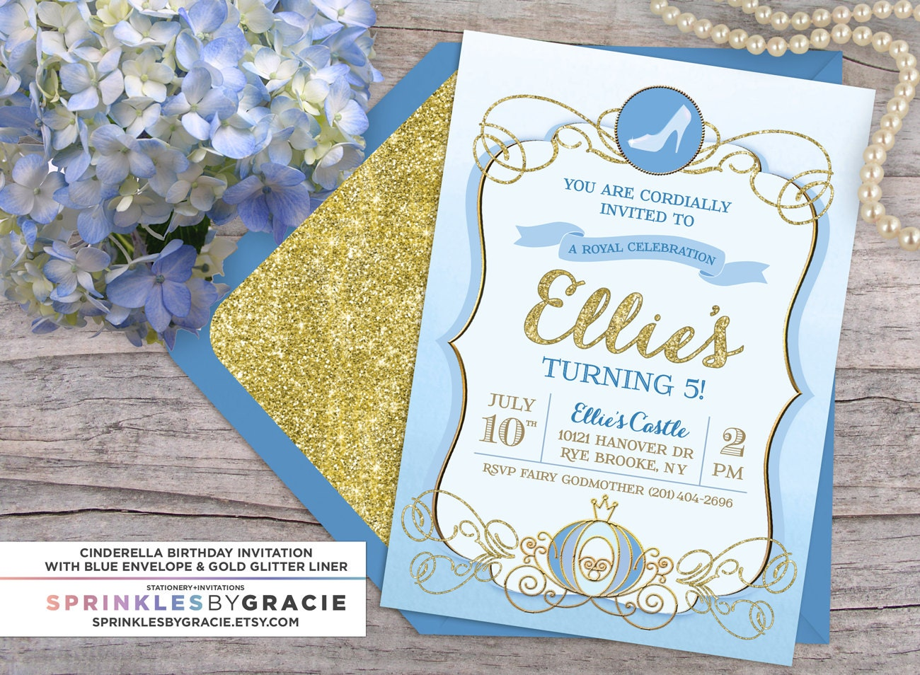 Cinderella royal ball birthday party invitation with free for Cinderella invitation to the ball template