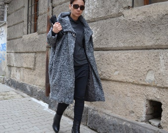 Woman's Coat/Warm Qilted Winter Coat/Wool Warm Coat/Jacket/Extravagant Coat by CARAMELfs T7815