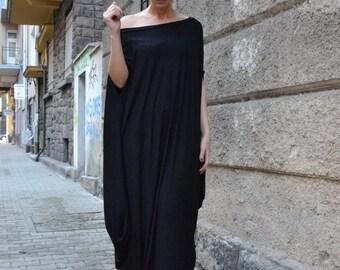 Maxi Tunic, Kaftan Dress, Black Top, Zen Draped Tunic, Maxi Dress, Long Top, Wrap Dress, Tunic Dress, Oversized Tunic by CARAMELfs D8916