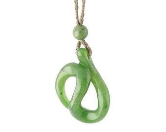 Canadian Nephrite Jade Pendant, 4050