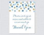 Blue Address an Envelope ...