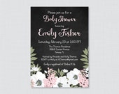 Chalkboard Baby Shower In...