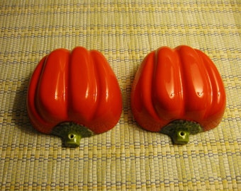 RED PEPPERS ITALICA Ars Food Mold Bowl Oven Proof Italian Pottery Vegetable Wall Hanging Kitchen Decor Made in Italy