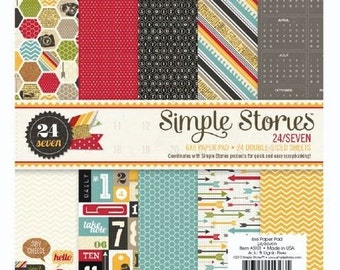 "Simple Stories, ""24/Seven"" 6x6 Paper Pad"