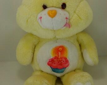 "Vintage Care Bears ""Birthday Bear"" 13"" Plush Kenner 1983"