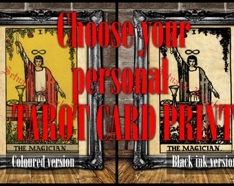 "Choose your ""TAROT CARD PRINT"" - magick, witch, fortune-teller, occult poster, Tarot reading, mystic, magic art, esoteric home decor #396"