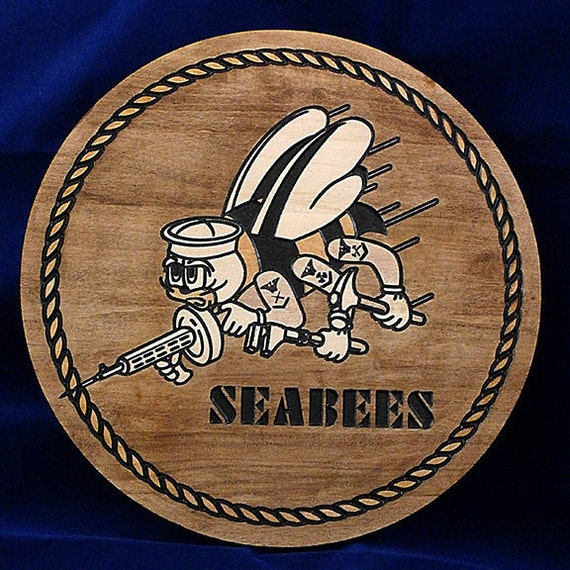 Items similar to navy seabees soft maple wood carving