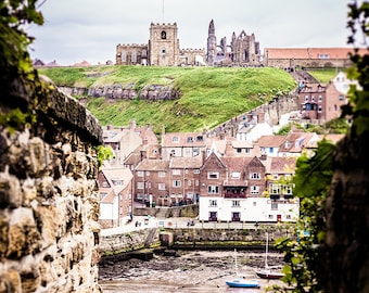 """Whitby Abbey Photography - Whitby Harbour - Miniature Style - English Seaside Town - """"Tunnel Vision"""""""