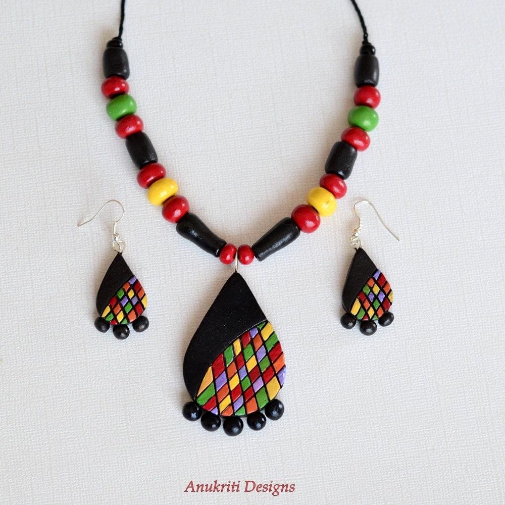 Polymer Clay Charm Bracelet: Indian Jewelry Polymer Clay Jewelry Handmade Jewelry