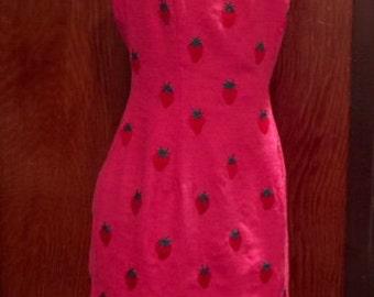CARMEN MARC VALVO Sleeveless Sheath Summer Dress Embroidered Cruise Wear