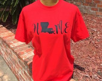 HOME Louisiana T-Shirt | LA Shirt | University of Louisiana at Lafayette | Louisiana State University