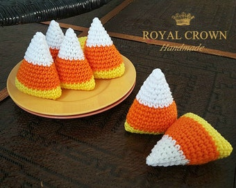 Candy Corn Crochet Plush Toy,Candy Corn Knit,Candy Corn Plush,Thanksgiving Decor,Halloween Decor,Best Selling Plushies,Yellow Orange White